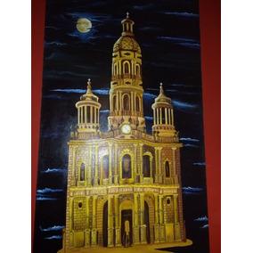 Pintura Oleo Sobre Tela Templo De San Antonio Ags
