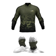 Camisa, Camiseta De Pesca Presa Viva Camuflada05 + Tube Neck