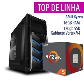 Pc Gamer Amd Ryzen 5 1600 -16gb-120ssd-pl 1050ti 4gb-gab V4