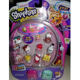 Shopkins Pack De 12 Con Sorpresa+2 Mochilas Mini Serie 5 Ori