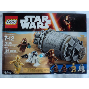 Star Wars Lego Droid Scape Pod C-3po R2-d2 Jawas 2016