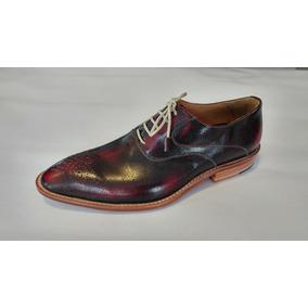 Zapato Vestir Acordonado London Bordo. Silla Argentino