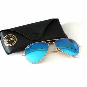anteojos ray ban espejados azules
