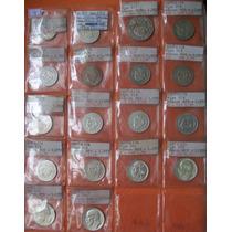 17 Moedas 1000, 2000, 5000 Réis Em Prata 1913 A 1938