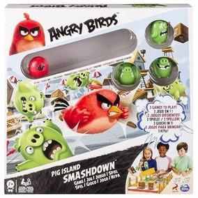 Juego Angry Birds Destruccion Isla De Los Puercos