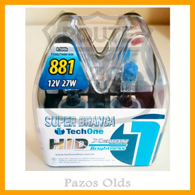 Par Lâmpadas Super Branca H27 55w 8500k Tech One Excelente