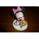 Minnie Bebe - Adornos De Disney Porcelana Fría