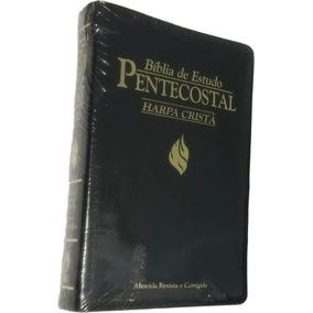 Bíblia De Estudo Pentecostal Média C/ Harpa Cristã / Preta