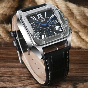 Relógio Jaragar Luxo Automático Caixa Quadrada