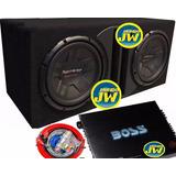 Combo Pioneer 311 Doble+ Caja Slot + Potencia Boss 4c+ Kit