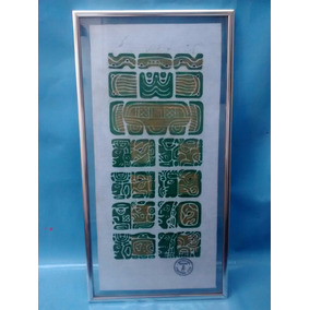 Quadro Asteca Chichen Itza Mexico - Certificado Cecijema