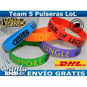 Team 5 Pulseras Silicón League Of Legends