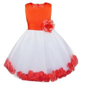 Vestido Infantil Princesa Daminha Casamento Batizado Festa