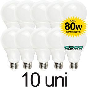 Kit 10 Lampada Bulbo Led 9w Branc Quente Bivolt Econômic E27