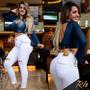 Calça Branca Boyfriend Rhero Original Jeans Estilo Pitbull