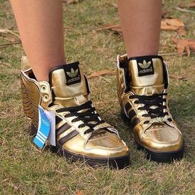 Tênis adidas Jeremy Scott Wings 2.0 Gold Black Raro Original