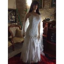 Vestido De Novia Para Boda Hermoso (usado Una Vez)