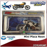 Mini Placa De Neón Para Motos - Gtr 500 Platinium