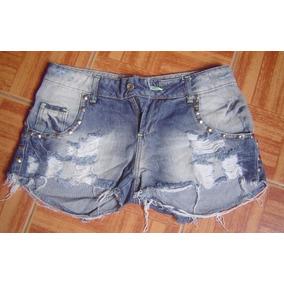 Bermuda Shorts Jeans Feminino Cia Fashion - Nº42