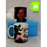 Star Wars Caja Forrada Regalo 2 Tazas Darth Maul Darth Vader