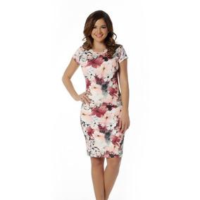 Vestido Entallado Al Cuerpo Diseño Floral Modelo 011891 $229