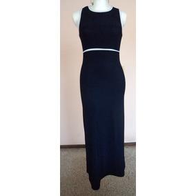 Vestido Largo Azul Marino Corte Princesa Talla S Vt178