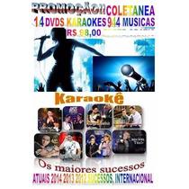 15+1 Dvds Coletânea Karaokê 2015 Sertanejo Pop Rock Atuais