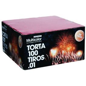 Torta 100 Tiros Multicolor Fuegos Artificiales Pirotecnia