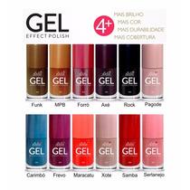 Esmalte Gel Effect Polish 6 Cores Bella Brazil Frete Gratis