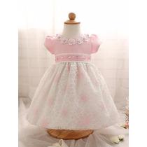Vestido De Niña Con Encaje De 0 A 2años(por Encargue)