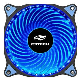 Cooler Led Azul 12 Cm C3tech F7-l130bl P/ Gabinete 30 Leds