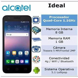 Alcatel Onetouch Ideal 4,5 5/2 Mp 8rom 1ram- Liberados!