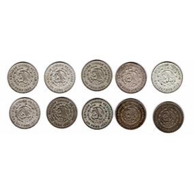Serie 11 Monedas Un Peso Del 1957 Al 67 Plata.100 C18