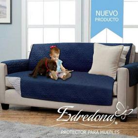 Protector De Sofa Tres Puestos Azul