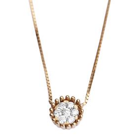 Gargantilha Em Ouro 18k Veneziana Com Diamante 8 Pontos 40cm por Rosana Joias  e Relógios 49cf61eb69