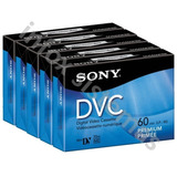5 Video Cassettes Digital Sony Mini Dv 60min Dvc Dvm60prr A