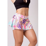 Kit 10 Short Saia Suplex Estampado Fitness Academia Atacado