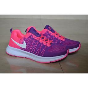 Kp3 Zapato Deportivo Nike Air Thea Zoom Purpura Fucsia Damas