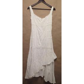 Vestido Maxi Largo Importado Algodon Hippie Chic Nuevo M