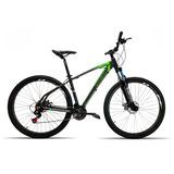 Bicicleta 29 High One 27v Shimano Freio Disc Pt Verde T19