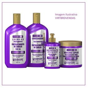 Desamarelador Gota Dourada Kit Forta + Shampoo Techno Hair