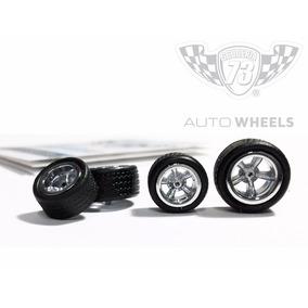 Llantas Para Autos Escala Hotwheels 1:64 Gomas Scuderia 73