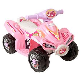 Moto Rosada A Bateria 4 Ruedas / Tienda Kidscool