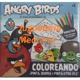 Pinta, Borra Y Pinta Angry Birds + Crayones Colores Almagro