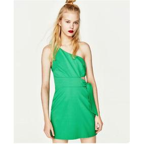 Vestido verde mujer zara