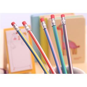 Kit 3 Unidades Lápis Flexível Mágico Dobrável