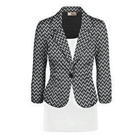 Saco De Mujer Color Negro-blanco Marca Hybrid & Talla S.