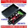 Control Pwm: Velocidad De Motores Celdas De Hidrógeno Hho