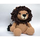 León Amigurumi Tejido Crochet Juguete Muñeco Bebé Niño/a