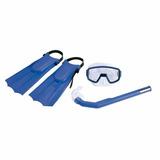 Snorkel Mergulho Infantil Mascara + Nadadeira + Respirador